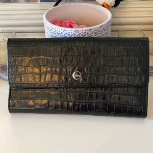 Abas Alligator leather travel wallet